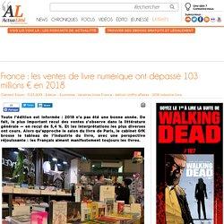France : les ventes de livre numérique ont dépassé 103 millions € en 2018