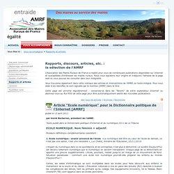"""Article """"Ecole numérique"""" pour le Dictionnaire politique de l'Internet [AMRF] > AMRF Association des Maires Ruraux de France"""