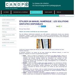 Canopé Créteil - Utiliser un manuel numérique : les solutions gratuites disponibles