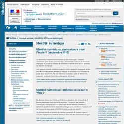 Identité numérique — Documentation (CDI)