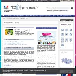 Numérique à l'école - ac-rennes.fr
