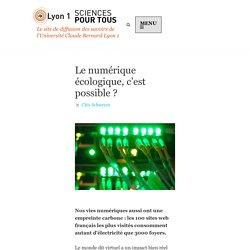 Le numérique écologique, c'est possible ? - Sciences pour tous