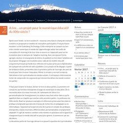 A lire… un projet pour le numérique éducatif du XXIe siècle ? – Veille et Analyse TICE