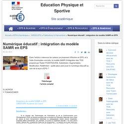 Numérique éducatif : intégration du modèle SAMR en EPS
