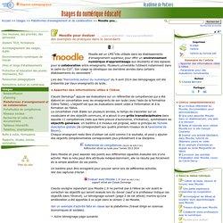 Moodle pour évaluer- Usages du numérique éducatif
