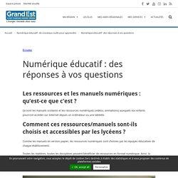 Numérique éducatif : des réponses à vos questions