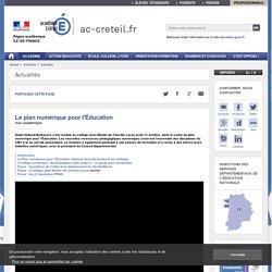 Le plan numérique pour l'Éducation - ac-creteil.fr