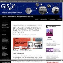 Réseau d'acteurs de la recherche sur le numérique et l'éducation