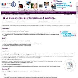 Zoom - Le plan numérique pour l'éducation en 5 questions…