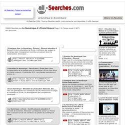 Le Numérique A L'École Eduscol : Page 1/10 : All-Searches.com