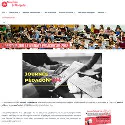 Numérique pour l'enseignement et la recherche » Retour sur la journée PédagoN'UM 2018