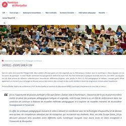 Numérique pour l'enseignement et la recherche » [Article] – Escape game à l'UM
