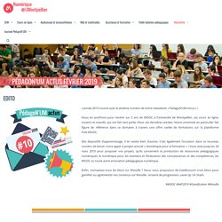 Numérique pour l'enseignement et la recherche » PédagoN'UM Actus Février 2019