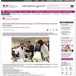 Faire entrer l'École dans l'ère du numérique : Vincent Peillon dresse un premier point d'étape