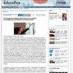 De l'usage d'un Tableau Numérique pour modifier l'enseignement de l'Histoire à l'école primaire