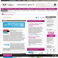 École numérique - Ministère de l'Éducation nationale, de l'Enseignement supérieur et de la Recherche