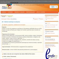 AFC - Référent numérique en entreprise de l'organisme AIFCC
