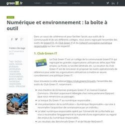 Numérique et environnement : la boîte à outil