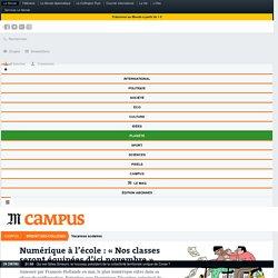 Numérique à l'école: «Nos classes seront équipées d'ici novembre»