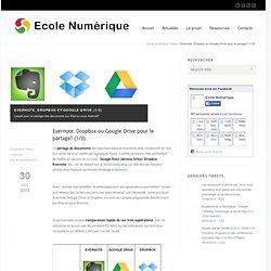 Evernote, Dropbox ou Google Drive pour le partage? (1/3)