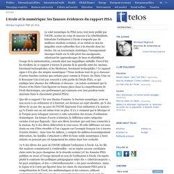 L'école et le numérique: les fausses évidences du rapport PISA