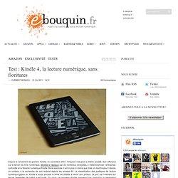 Test : Kindle 4, la lecture numérique, sans fioritures