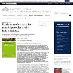 Étude annuelle 2014 - Le numérique et les droits fondamentaux