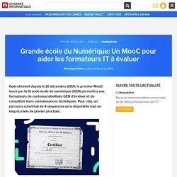 Grande école du Numérique: Un MooC pour aider les formateurs IT à évaluer