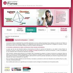 FORSE - Campus numérique - Formations à distance en sciences de l'éducation