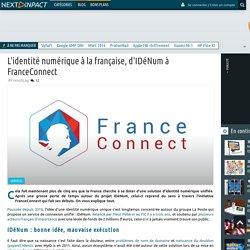 L'identité numérique à la française, d'IDéNum à FranceConnect
