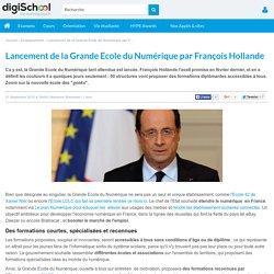 La Grande Ecole du Numérique lancée par François Hollande