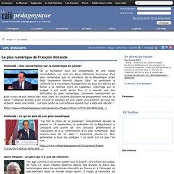 Le plan numérique de François Hollande