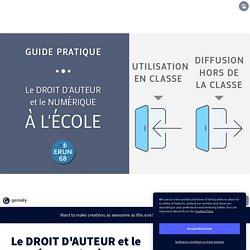 Le DROIT D'AUTEUR et le NUMÉRIQUE à l'ÉCOLE by Frédéric Landru on Genial.ly