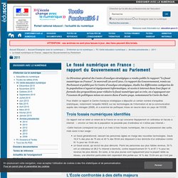 Le fossé numérique en France : rapport du Gouvernement au Parlement — Enseigner avec le numérique