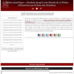 Graduée jusqu'à 100 (bonds de 1) Fiches d'Exercices sur le Sens des Nombres