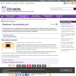 """Numérique et handicap - Plateforme """"lire-ensemble.com"""""""
