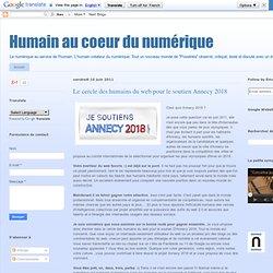 Le cercle des humains du web pour le soutien Annecy 2018