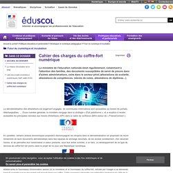 Futur du numérique et incubation - Cahier des charges du coffre-fort numérique