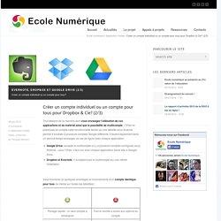 Créer un compte individuel ou un compte pour tous pour Dropbox & Cie? (2/3)
