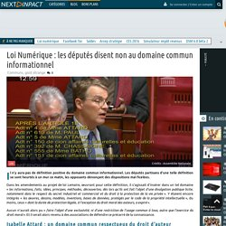 Loi Numérique : les députés disent non au domaine commun informationnel