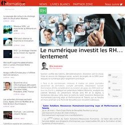 Le numérique investit les RH… lentement