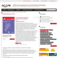 Le numérique dans les institutions muséales - OCIM