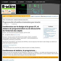 3-7 octobre 2011 : semaine Internet des Objets à Brest (and much more) » Blog Archive » Programme des 5-6 octobre et instructions pour s'inscrire
