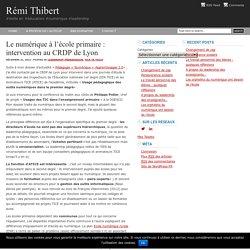 Le numérique à l'école primaire : intervention au CRDP de Lyon