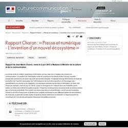 Rapport Charon : « Presse et numérique - L'invention d'un nouvel écosystème »