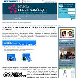 Paris Classe Numérique - Publier à l'ère numérique : les licences Creative commons