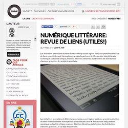 Numérique littéraire: revue de liens (utiles!)