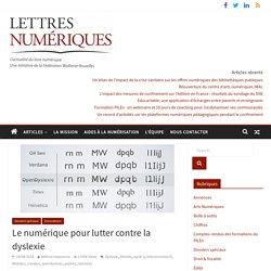 Le numérique pour lutter contre la dyslexie
