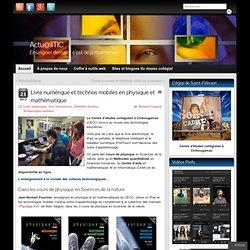 Livre numérique et technologies mobiles en physique et mathématiques » Weboblogue Actu@liTIC