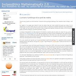L'univers numérique d'un prof de maths